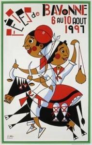affiche-des-fetes-de-Bayonne-en-1997