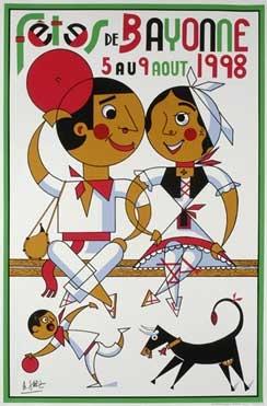 affiche-des-fetes-de-Bayonne-en-1998