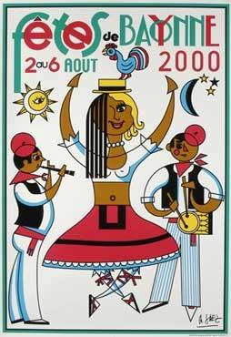 affiche-des-fetes-de-Bayonne-en-2000
