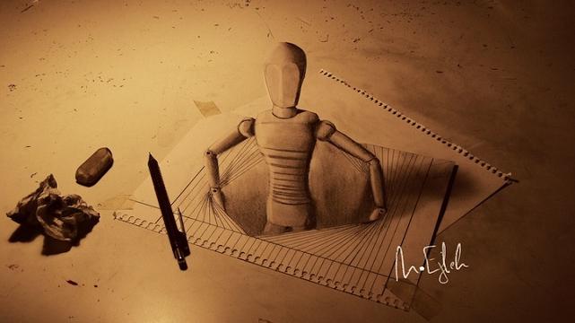 Incroyables dessins en trois dimensions par Muhammad Ejleh