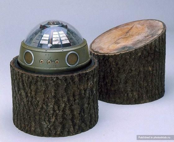 Transmetteur satellite qui recueillait des informations de défense radar et de l'air.