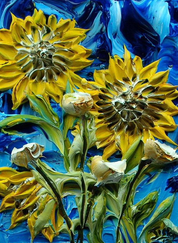relief peinture acrylique couteaux dimension Justin Gaffrey 1 Du relief dans la peinture Justin Gaffrey