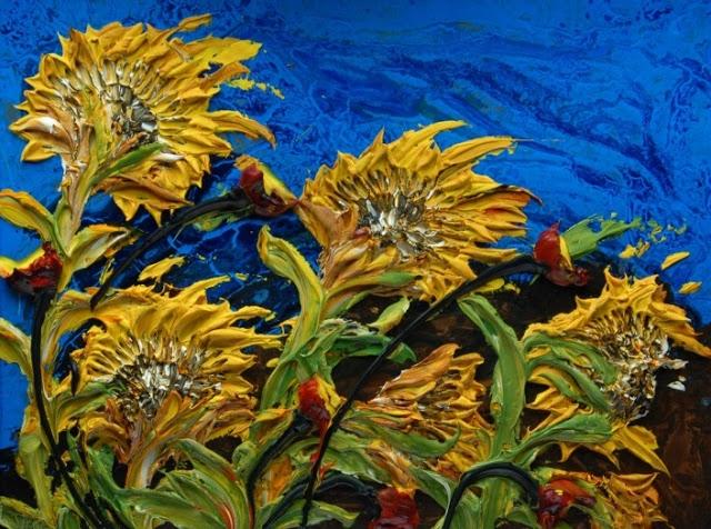 relief peinture acrylique couteaux dimension Justin Gaffrey 13 Du relief dans la peinture Justin Gaffrey