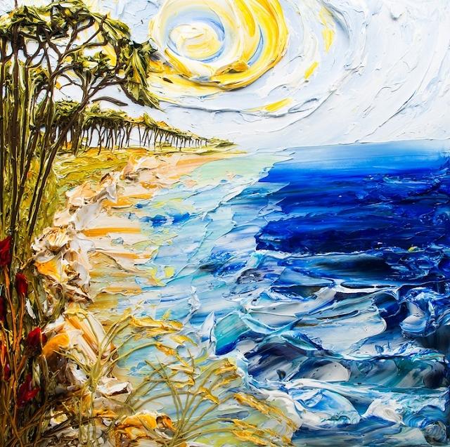relief peinture acrylique couteaux dimension Justin Gaffrey 14 Du relief dans la peinture Justin Gaffrey