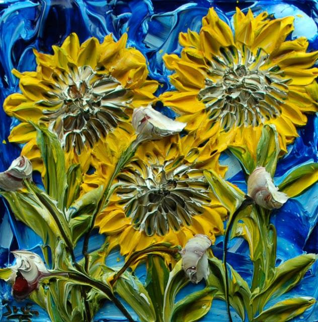 relief peinture acrylique couteaux dimension Justin Gaffrey 4 Du relief dans la peinture Justin Gaffrey