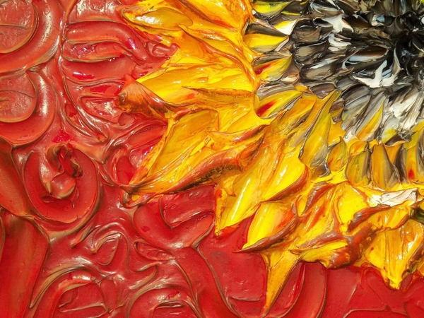 relief peinture acrylique couteaux dimension Justin Gaffrey 7 Du relief dans la peinture Justin Gaffrey