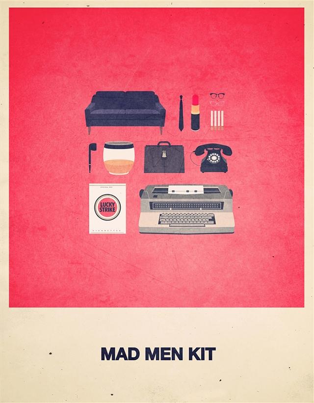 Culture pop et affiches de films minimalistes