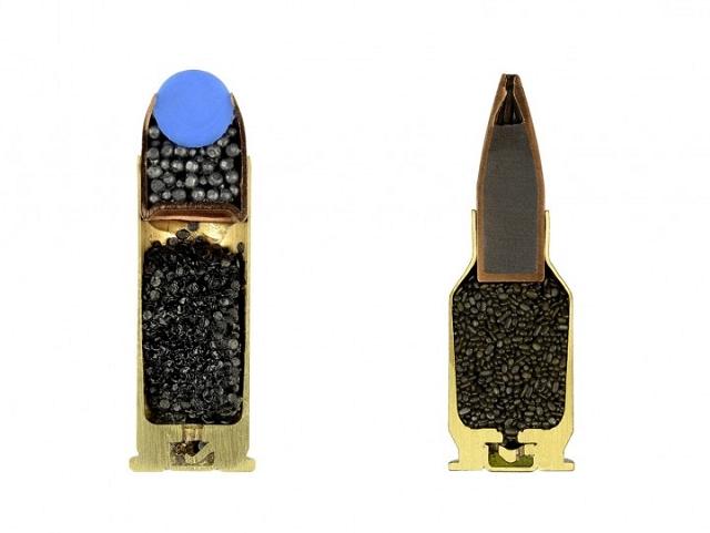 intérieur des munitions