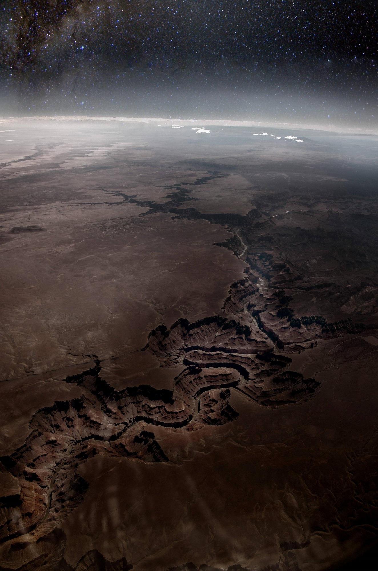 Grand Canyon vu de l'espace
