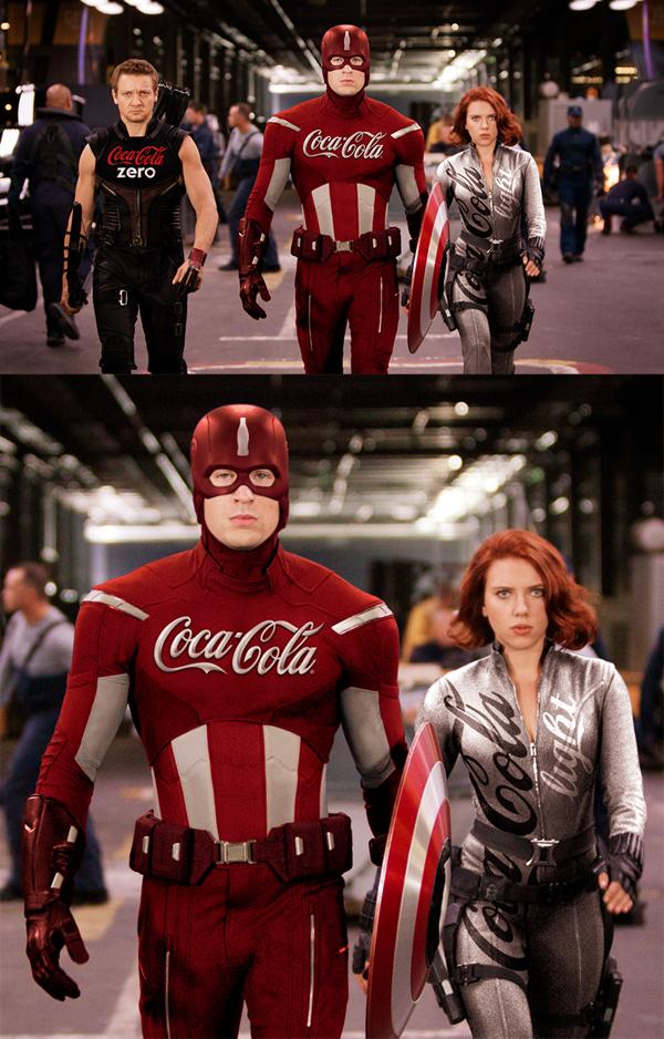Des super-héros sponsorisés