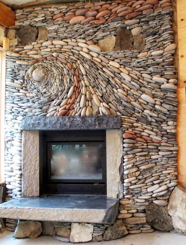 cheminee en pierre
