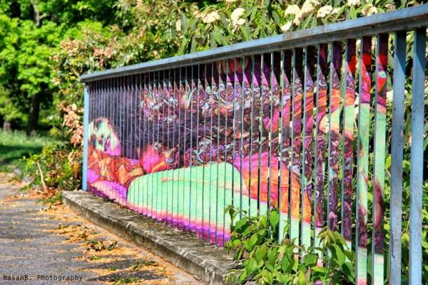 Street Art anamorphique