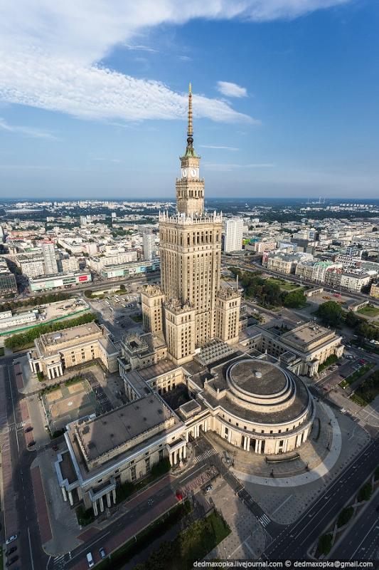 Pologne. Ce bâtiment est le plus haut  en Pologne