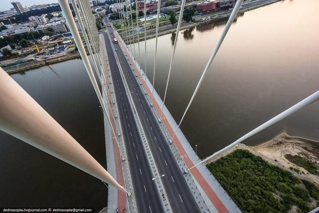 Pont à haubans sur la Vistule