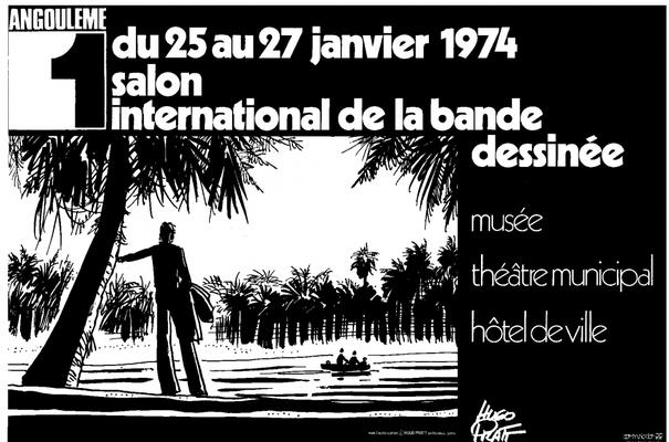 Affiche-Salon-bande-dessinee-angoulemes-1974-Hugo Pratt