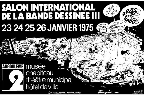 Affiche-Salon-bande-dessinee-angoulemes-1975-Andre-Franquin-