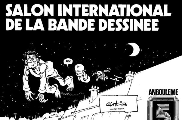 Affiche-Salon-bande-dessinee-angoulemes-1978-Marcel-Gotlib-