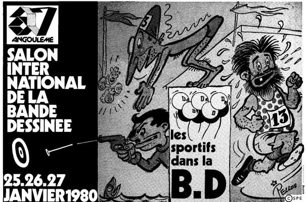 Affiche-Salon-bande-dessinee-angoulemes-1980-Rene-Pellos-