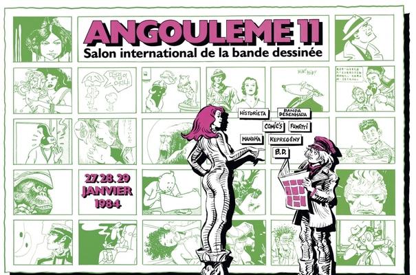 Affiche-Salon-bande-dessinee-angoulemes-1984-Jean-Claude-Forest-