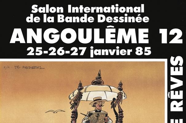Affiche-Salon-bande-dessinee-angoulemes-1985-Jean-Claude-Mezieres-