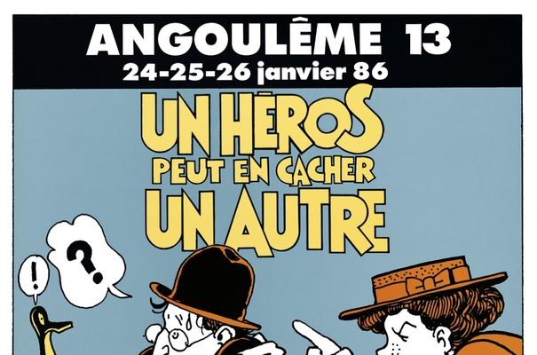 Affiche-Salon-bande-dessinee-angoulemes-1986-Jacques-Tardi-