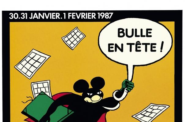 Affiche-Salon-bande-dessinee-angoulemes-1987-Jacques-Lob-