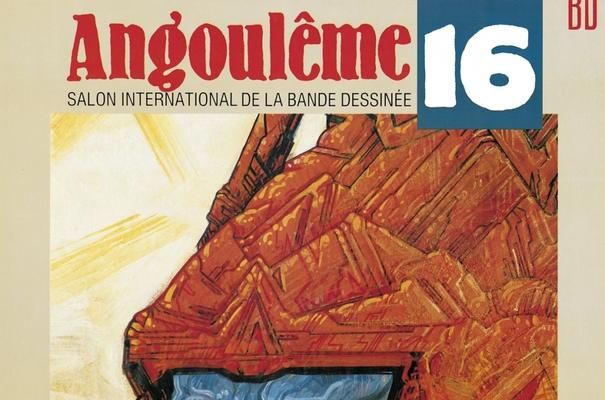 Affiche-Salon-bande-dessinee-angoulemes-1989-Philipe-Druillet-