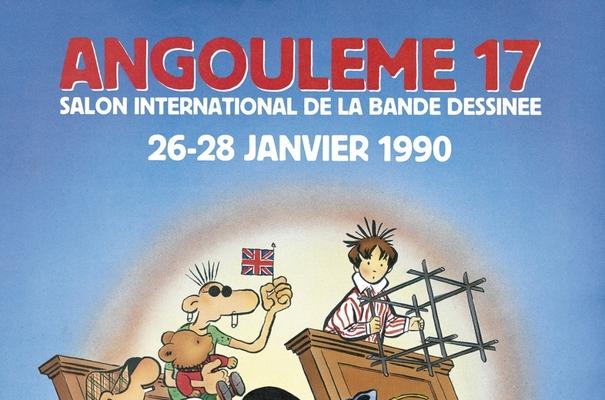 Affiche-Salon-bande-dessinee-angoulemes-1990-Rene-Petillon-