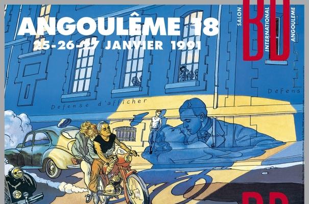 Affiche-Salon-bande-dessinee-angoulemes-1991-Max-Cabanes-