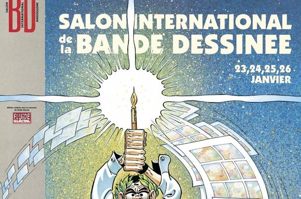 Affiche-Salon-bande-dessinee-angoulemes-1992-Marcel-Gotlib-