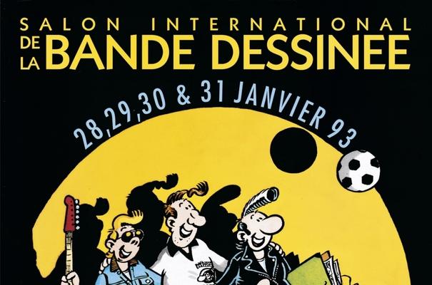 Affiche-Salon-bande-dessinee-angoulemes-1993-Franck-Margerin-