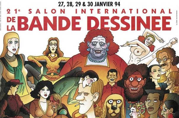 Affiche-Salon-bande-dessinee-angoulemes-1994-Gerard-Lauzier-
