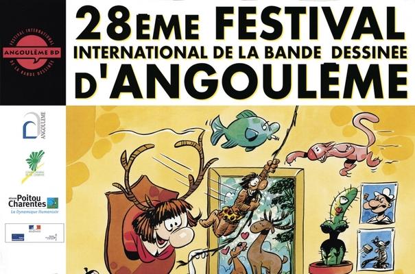 Affiche-Salon-bande-dessinee-angoulemes-2001-Florence-Cestac-