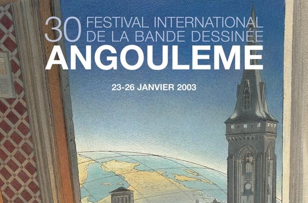 Affiche-Salon-bande-dessinee-angoulemes-2003-Francois-Schuiten-