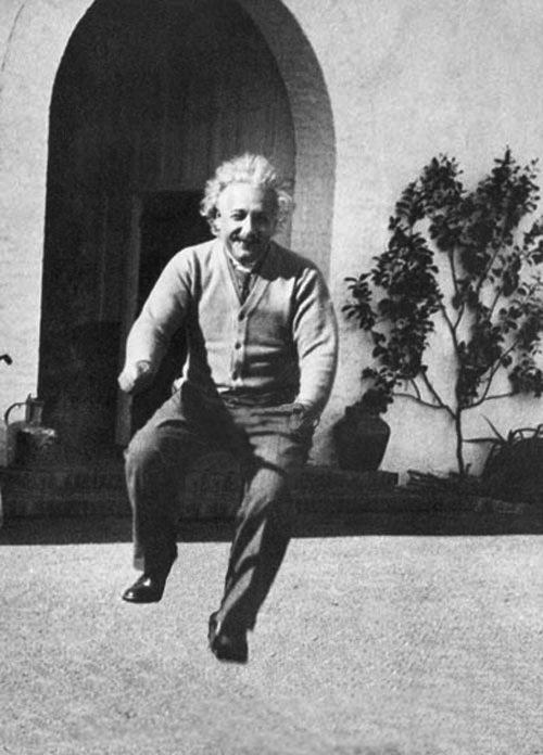 Albert Einstein Photos de célébrités sur des vélos invisibles