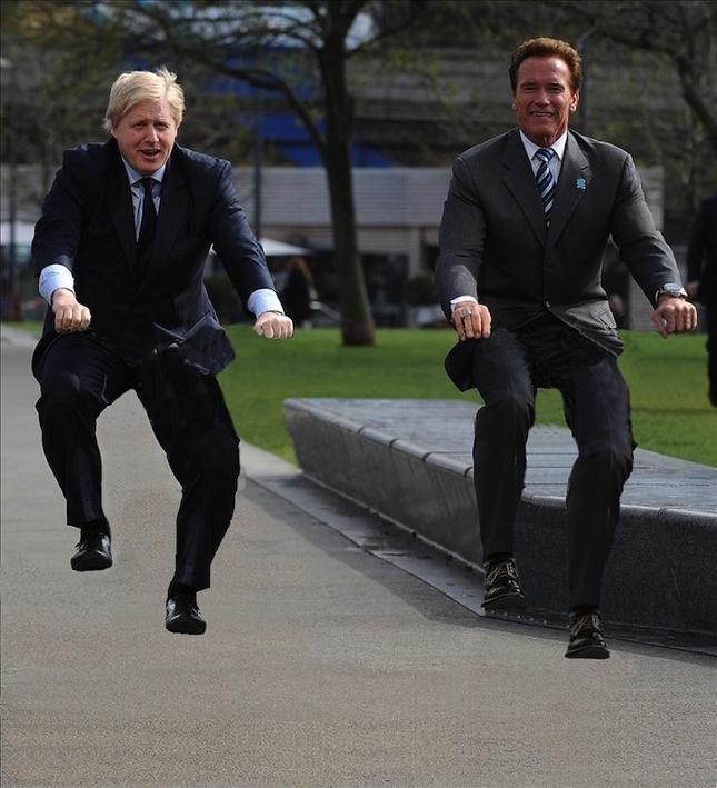 Boris Johnson et Arnold Schwarzenegger