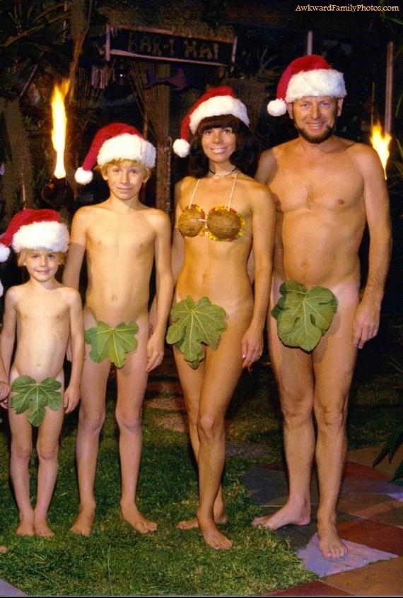 Mode Adam et Eve Le pire des photos de famille pour noël