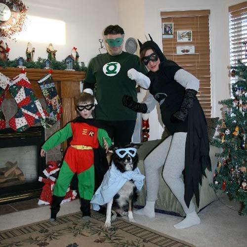 Super Héros Le pire des photos de famille pour noël