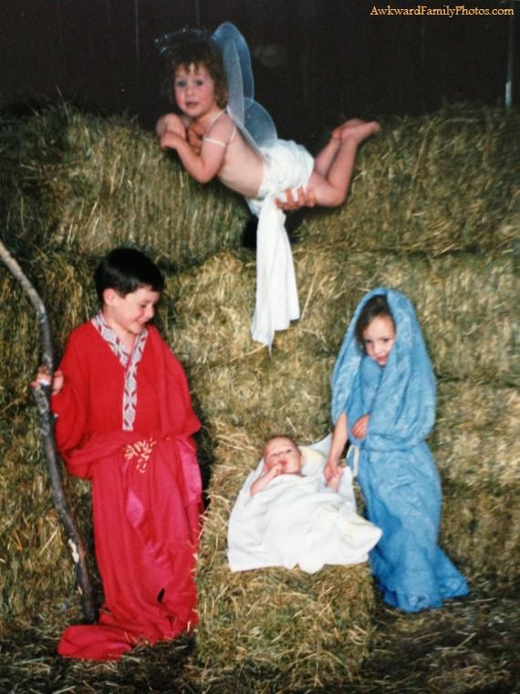 crèche Le pire des photos de famille pour noël