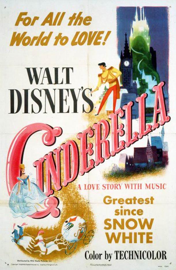 Cendrillon affiche 1950
