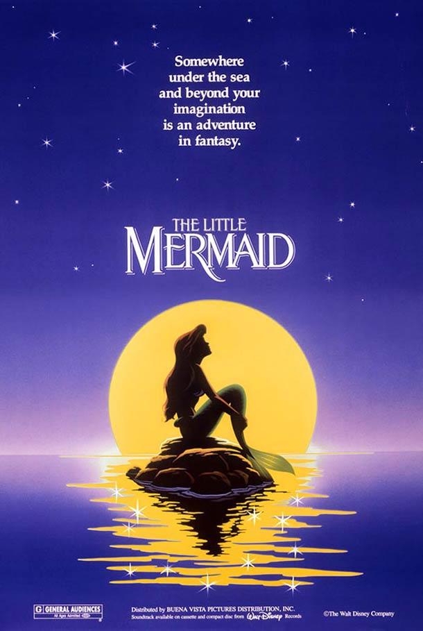 La Petite Sirène affiche 1989