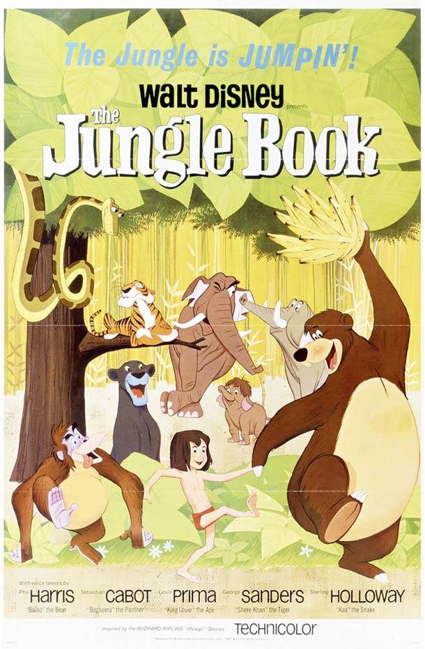 Le livre de la jungle walt disney affiche 1967