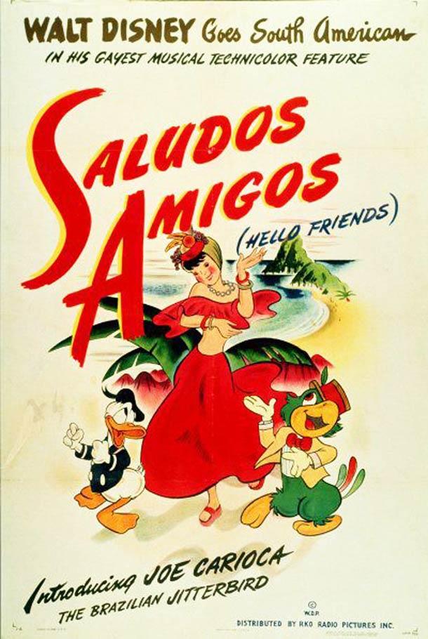 Saludos Amigos 1943 affiche