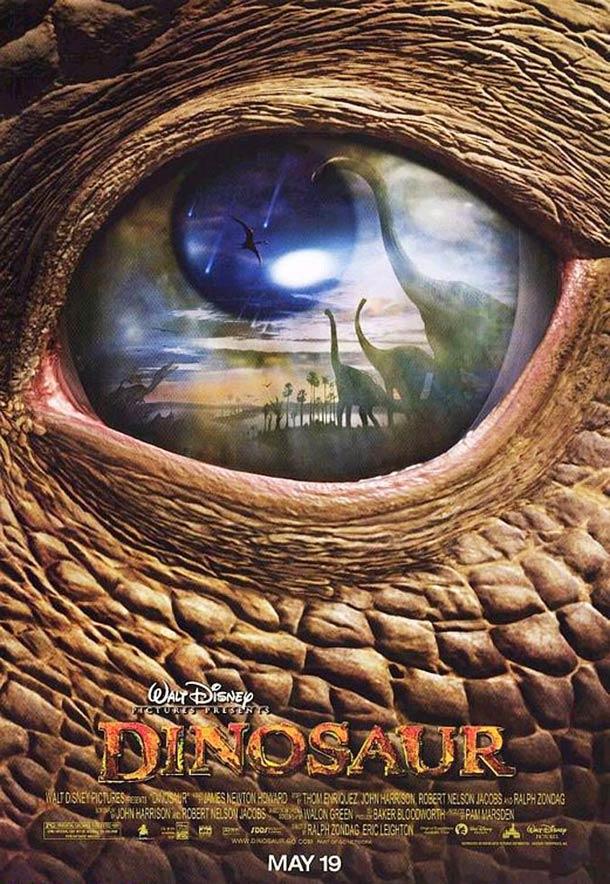 affiche Dinosaures walt disney 2000