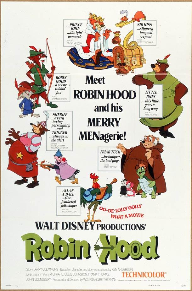 Toutes les affiches des films de Walt Disney de 1937 à  ~ Walt Disney Robin Des Bois