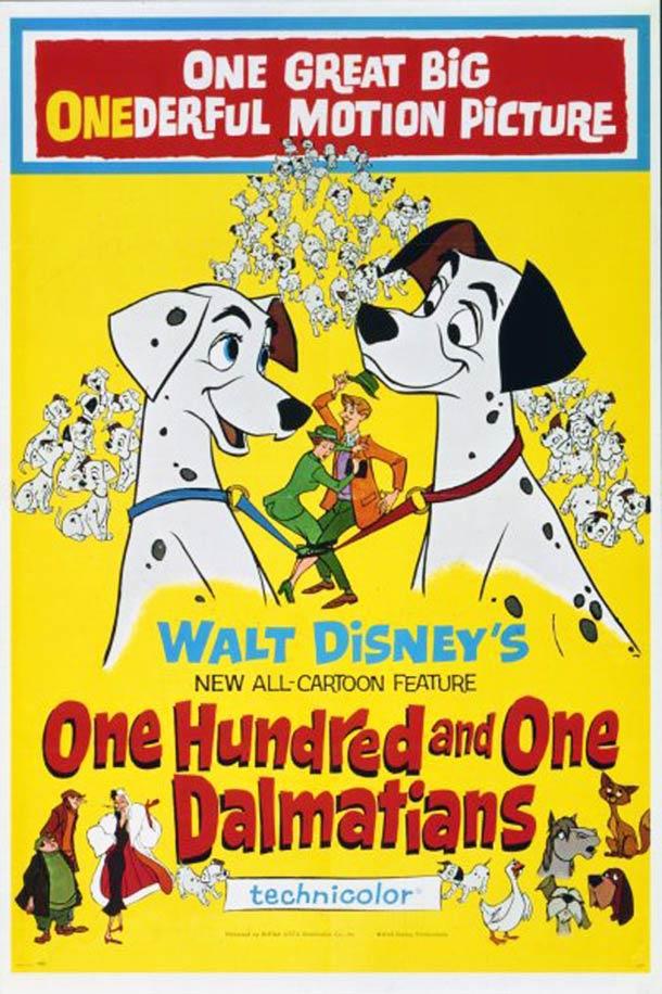 les 101 dalmatiens walt disney 1961 affiche