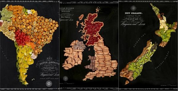 Amérique-du-Sud-Royaume-Uni-et-Nouvelle-Zélande-nouriture