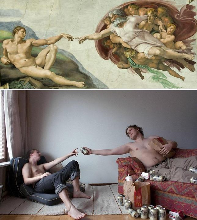 La cr ation d 39 adam de michel ange for Creation of adam mural