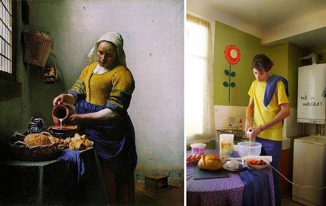 La peinture classique et ses portraits parodi s - La lechera de vermeer ...