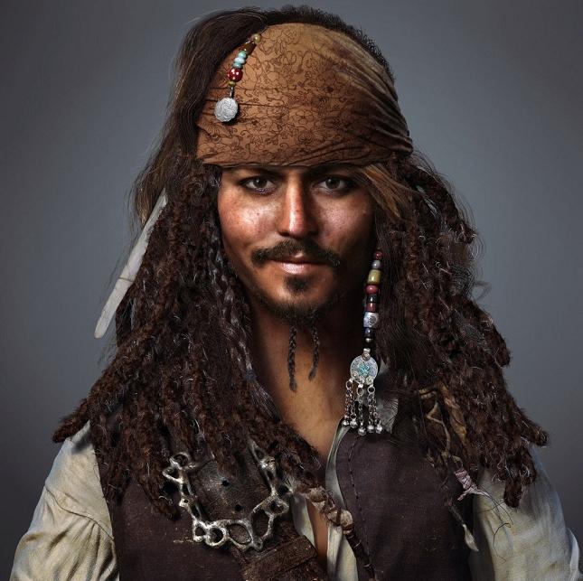 Capitaine Jack Sparrow par Zhiheng Tang